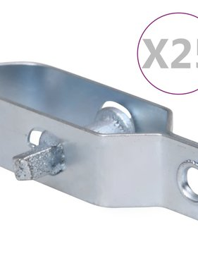 vidaXL Draadspanners 25 st 90 mm staal zwart