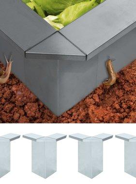 vidaXL Slakkenhek verbindingen 4 st 17,5x17,5x25 cm gegalvaniseerd staal