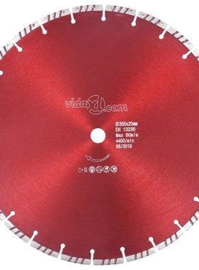 vidaXL Diamantzaagblad met turbo 350 mm staal