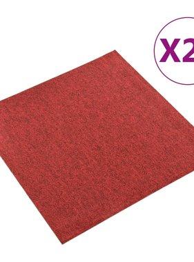 vidaXL Tapijttegels 20 st 5 m² 50x50 cm rood