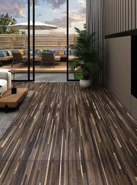 vidaXL Vloerplanken 5,26 m² 2 mm PVC gestreept bruin