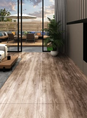 vidaXL Vloerplanken 5,26 m² 2 mm PVC woodwash