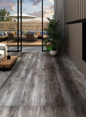 vidaXL Vloerplanken zelfklevend 4,46 m² 3 mm PVC gestreept houtkleurig