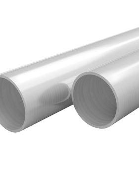 vidaXL Buizen rond V2A 2m Ø21x1,9mm roestvrij staal 2 st