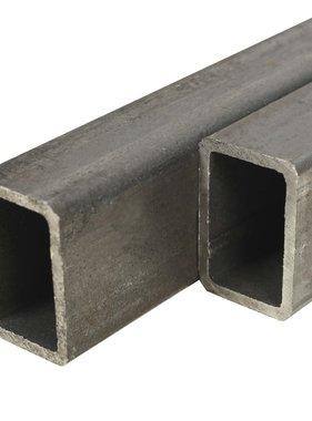 vidaXL Kokerbuizen rechthoekig 2m 60x30x2mm constructiestaal 2 st