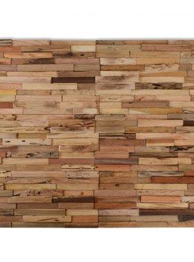 vidaXL Wandbekleding panelen 1 m² gerecycled teakhout 10 st