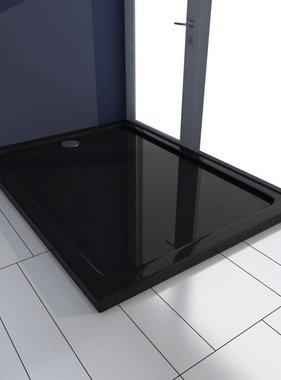 vidaXL Douchebak rechthoekig ABS zwart 80 x 110 cm