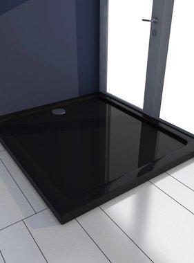 vidaXL Douchebak rechthoekig ABS zwart 80 x 90 cm