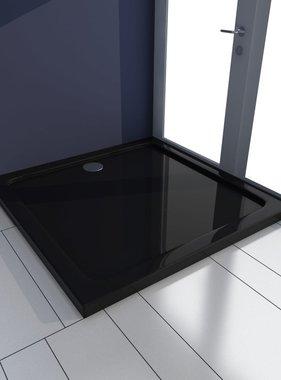 vidaXL Douchebak vierkant ABS zwart 80 x 80 cm