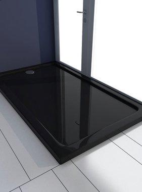 vidaXL Douchebak rechthoekig ABS zwart 70 x 120 cm