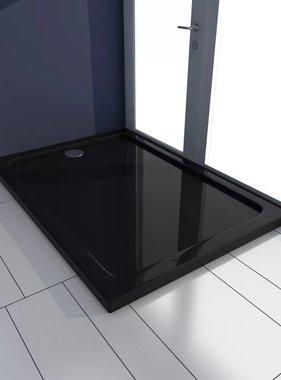 vidaXL Douchebak rechthoekig ABS zwart 70 x 100 cm