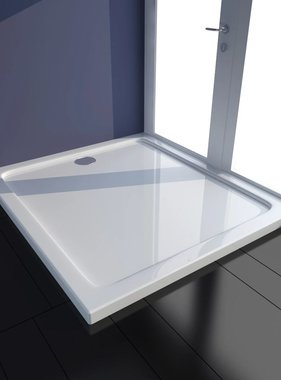 vidaXL Douchebak rechthoekig ABS wit 80 x 90 cm