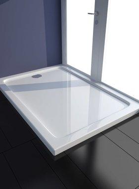 vidaXL Douchebak rechthoekig ABS wit 70 x 100 cm