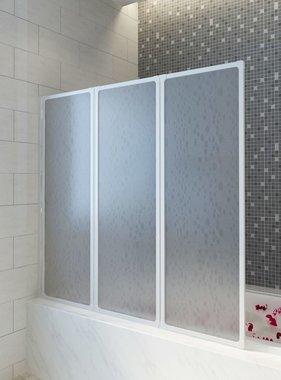 vidaXL Badscherm 3 panelen vouwbaar 141 x 132 cm