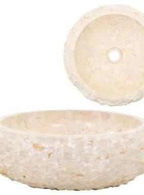 vidaXL Gootsteen 40x12 cm marmer crème