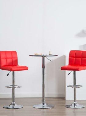 vidaXL Barstoelen kunstleer rood 2 st