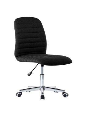 vidaXL Kantoorstoel draaibaar stof zwart