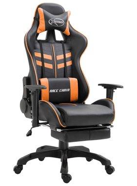 vidaXL Gamingstoel met voetensteun PU oranje