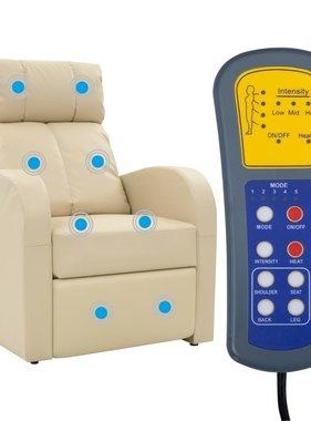 vidaXL Massagestoel elektrisch met afstandsbediening crèmekleurig