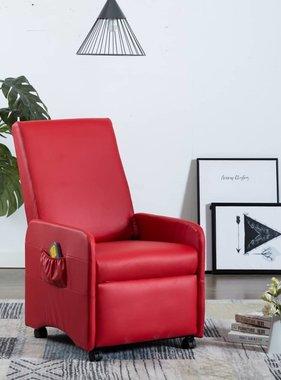 vidaXL Massagestoel verstelbaar elektrisch kunstleer rood