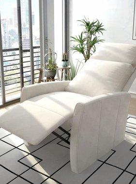 vidaXL Fauteuil elektrisch sta-op-stoel kunstleer wit