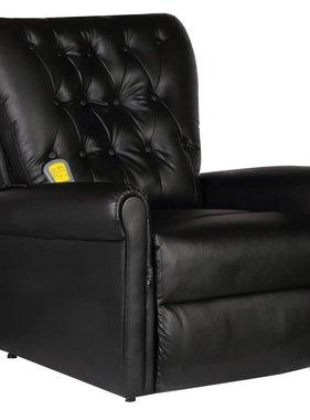vidaXL Massagestoel verstelbaar kunstleer zwart