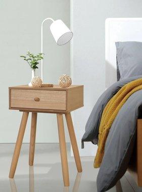 vidaXL Nachtkastjes 40x30x61 cm massief grenenhout bruin 2 st