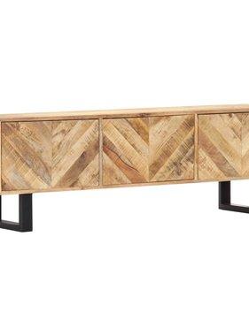 vidaXL Tv-meubel 140x30x45 cm massief mangohout