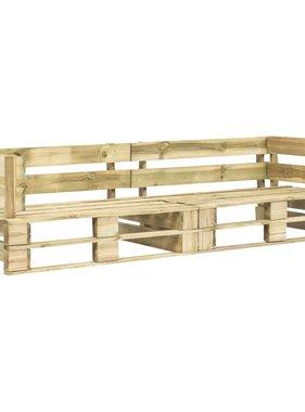 vidaXL Tuinbank 2-zits pallets FSC hout groen