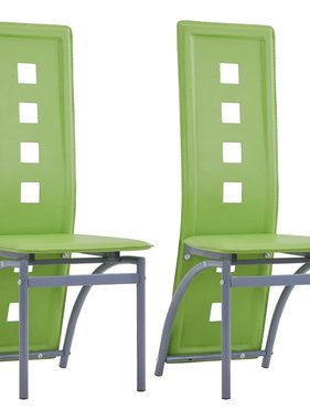 vidaXL Eetkamerstoelen 2 st kunstleer groen