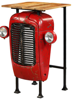 vidaXL Bartafel tractor 60x60x107 cm massief mangohout rood