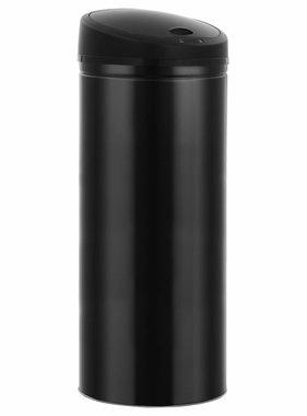 vidaXL Prullenbak met automatische sensor 62 L zwart