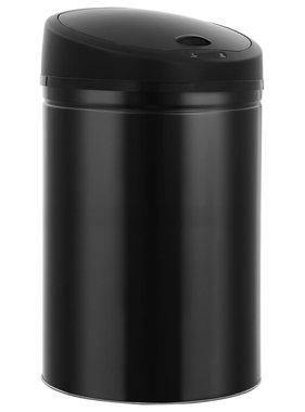 vidaXL Prullenbak met automatische sensor 42 L zwart
