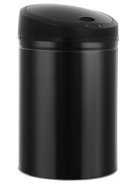 vidaXL Prullenbak met automatische sensor 32 L zwart