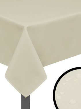 vidaXL Tafelkleden 5 stuks créme 220x130 cm