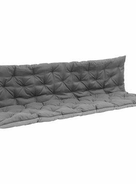 vidaXL Kussen voor schommelstoel 180 cm stof zwart en grijs