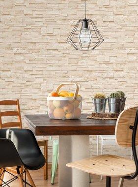vidaXL 4 st Behangrollen baksteen 0,53x10 m crème