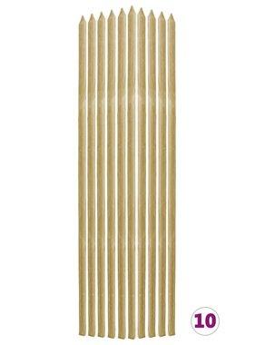 vidaXL Plantenstokken 10 st 2,8x2,8x150 cm geïmpregneerd grenenhout