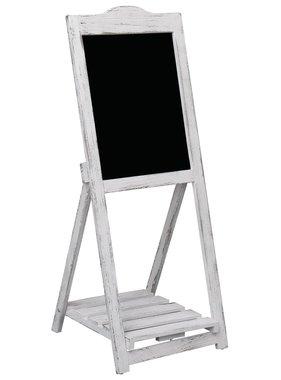 vidaXL Krijtbord op standaard 42x44x112 cm hout wit