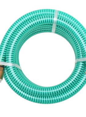 vidaXL Zuigslang met messing koppelingen 7 m 25 mm groen