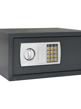 vidaXL Kluis digitaal 42x37x20 cm donkergrijs