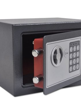 vidaXL Kluis digitaal elektronisch 23x17x17 cm