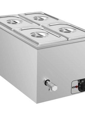 vidaXL Voedselwarmer bain-marie 1500 W GN 1/4 roestvrij staal
