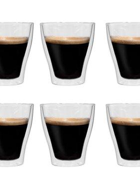 vidaXL Latte macchiatoglazen dubbelwandig 6 st 280 ml