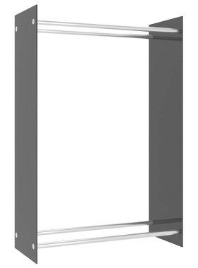 vidaXL Haardhoutrek 80x35x120 cm glas zwart