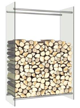 vidaXL Haardhoutrek 80x35x120 cm glas transparant