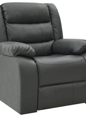 vidaXL Fauteuil verstelbaar kunstleer grijs