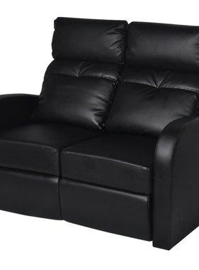 vidaXL Dubbele relaxfauteuil zonder middenleuning kunstleer zwart