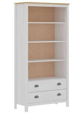 vidaXL Boekenkast Hill Range 85x37x170,5 cm massief grenenhout wit