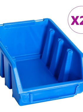 Stapelbakken 20 st kunststof blauw
